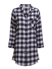 Bell flannel big shirt - Blue check