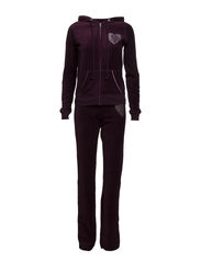 Bejse velour set - Dark purple