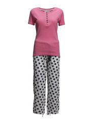 Ellis pyjamas - Coral / star print