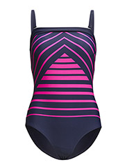 Uganda swimsuit - Blue / pink stripes