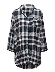 Parker flannel long shirt - BLUE CHECK