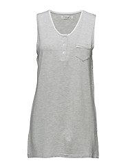 Sanna dress no sleeves - LIGHT GREY MELANGE