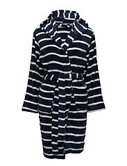 Tenna fleece robe short - MIDNIGHT STRIPE