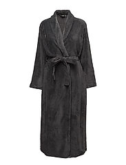 Cornflocker fleece robe long - GREY