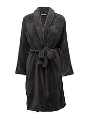 Cornflocker fleece robe short - GREY