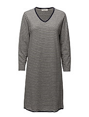 Telma long dress - GREY/MIDNIGHT STRIPE