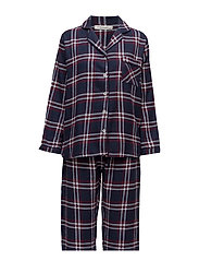 Parker py flannel incl mask - WINE/MIDNIGHT BLUE