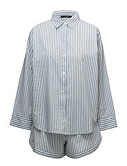Venya pyjamas w. shorts - BLUE/WHITE STRIPES