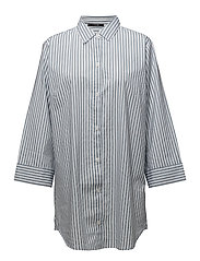 Venya long shirt - BLUE/WHITE STRIPES