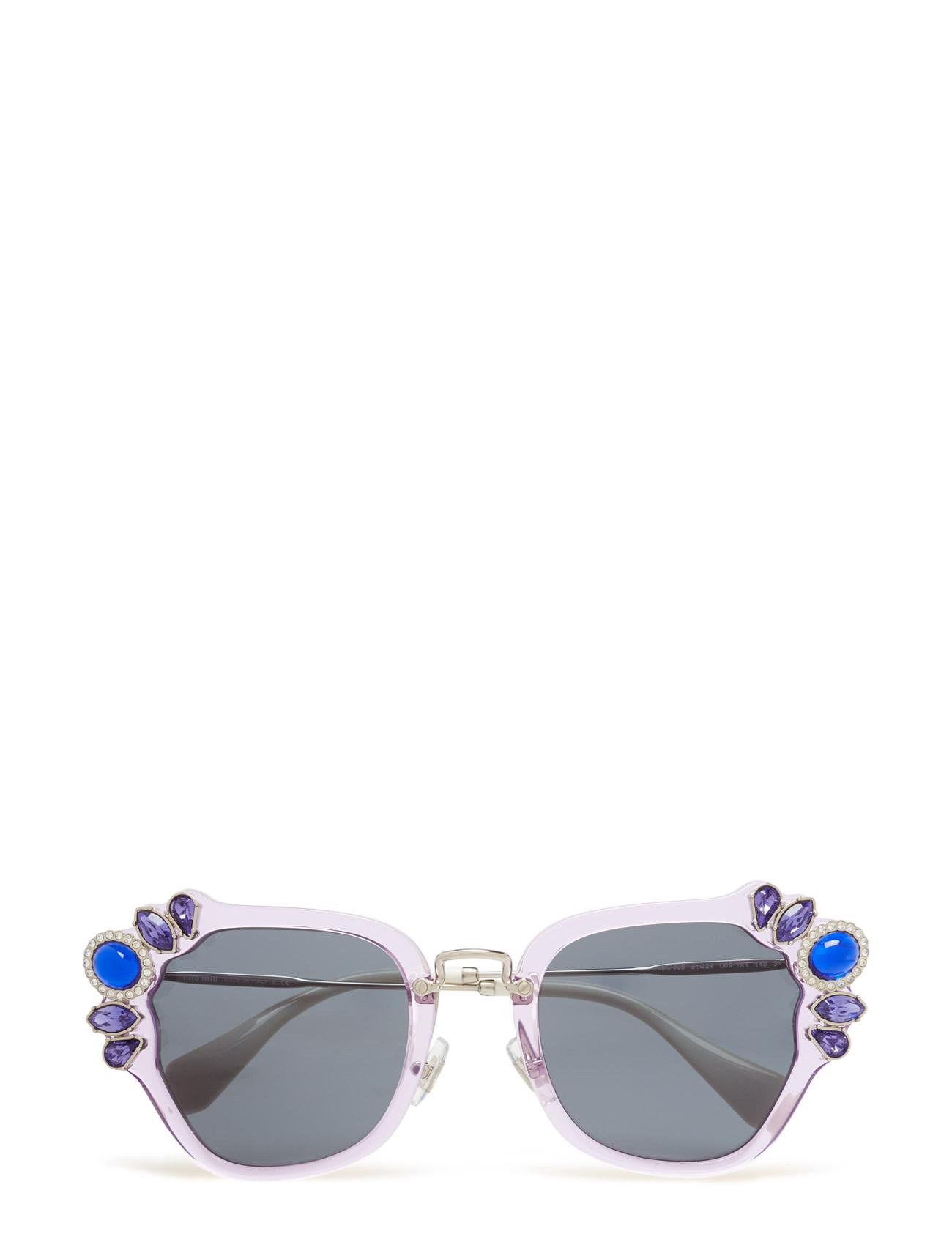 Cat Eye Miu Miu Sunglasses Solbriller til Damer i Lilac