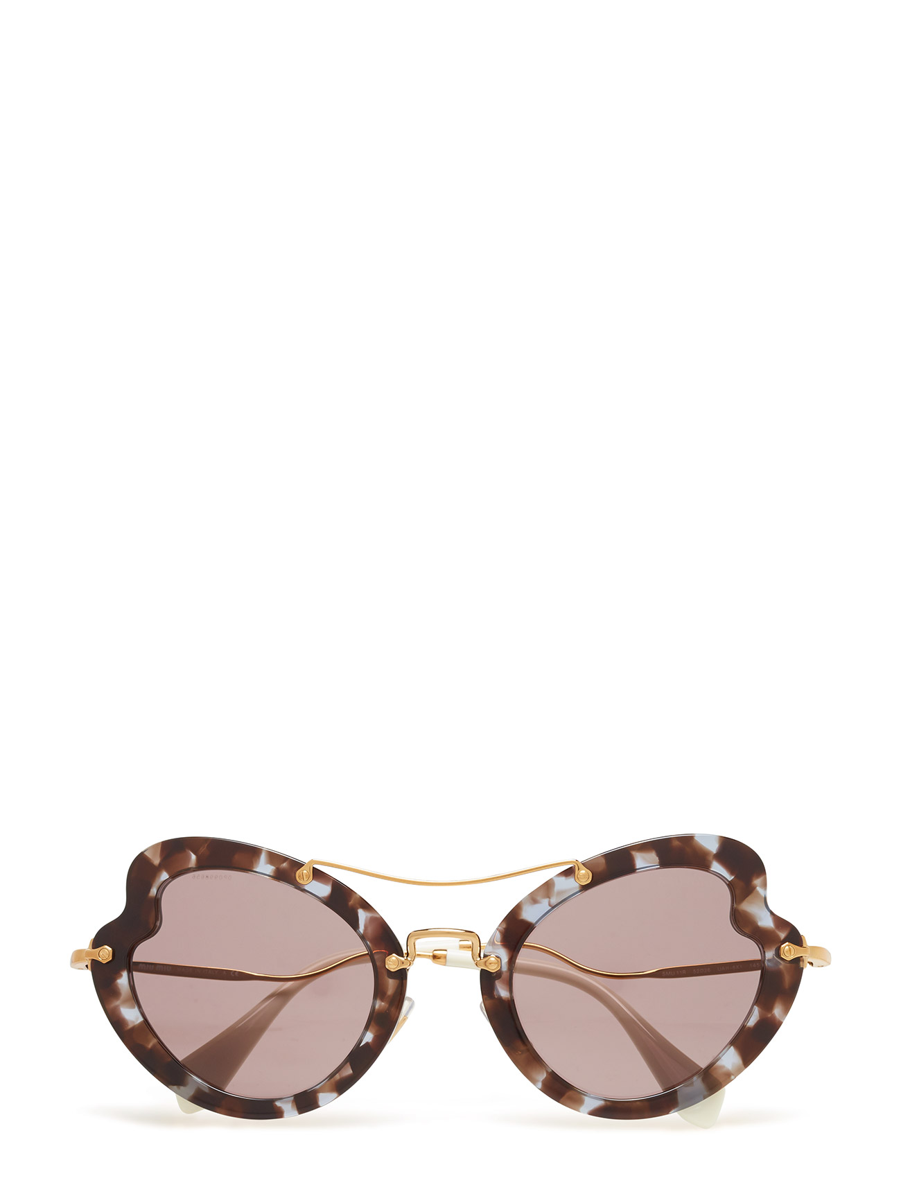 Cat Eye Miu Miu Sunglasses Solbriller til Damer i Sort