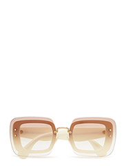 Square - IVORY/CLEAR GRADIENT BROWN