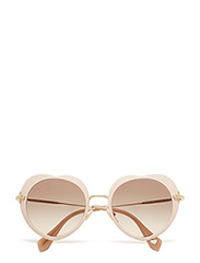 Round frame - MATTE PINK-LIGHT BROWN GRAD LIGHT GREY