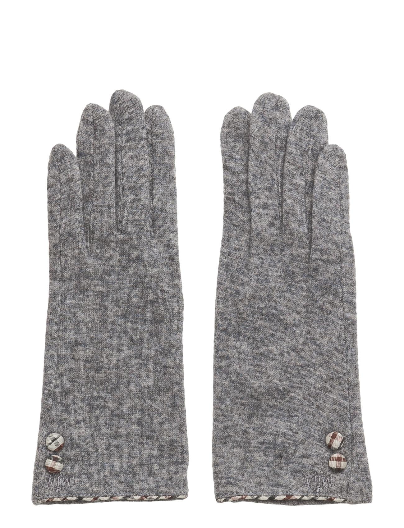 Jazz Knit Wool Mix Grey MJM Handsker til Kvinder i Grå