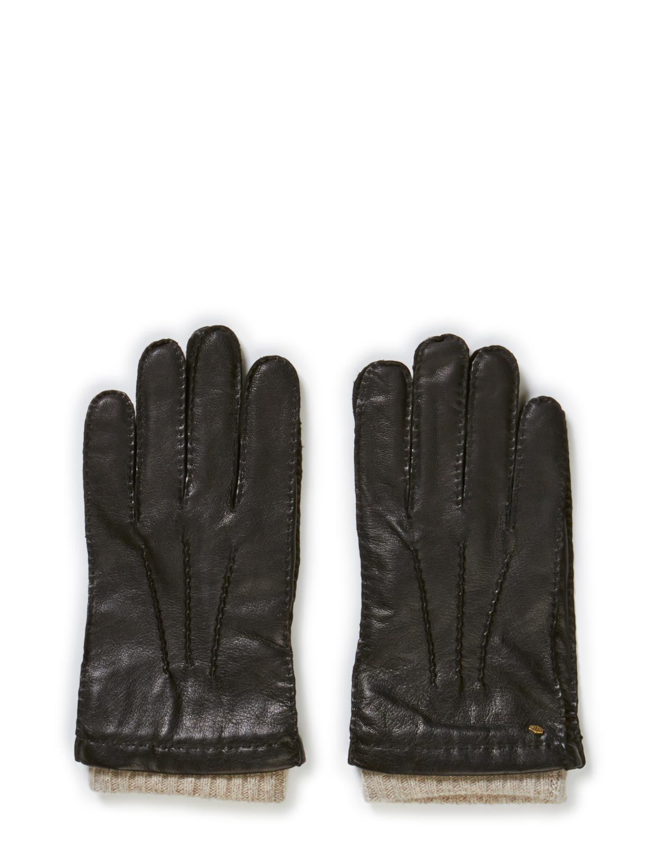 Mjm Men'S Glove Perry Leather Wool/Cashmir MJM Handsker til Herrer i Sort