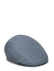 MJM Country Linen Khaki - BLUE CHECK