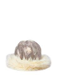 MJM Zoe W Print Poly/Faux Fur - Beige/Off White