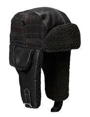Fur hat TH1108 Antique Faux Lamb - Black