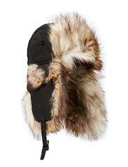 MJM TH1108 W Taslan/Faux Fur - Black/Natural