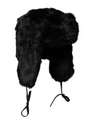 Fur hat TH900 W Rabbit - Black