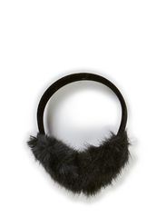 Earmuff W Faux Fur - Black