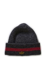 MJM Beanie 3C - Grey/Black/Red
