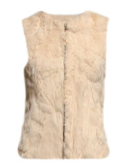 MJM Vest Long V-neck Rabbit - Off White
