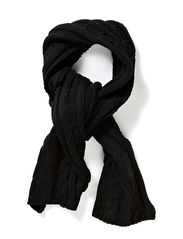 Scarf Cable Knit - Black