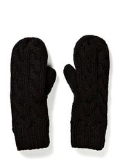 Mitten Cable Knit - Black