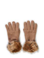 MJM Lady Gloves/Cuff-Knitt 50% Wool - Beige/Natural