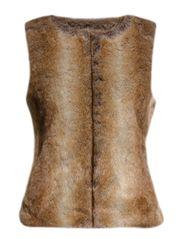 MJM Vest Faux Fur Camel - Camel