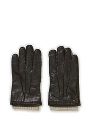 MJM Men's Glove Perry Leather Wool/Cashmir - Black
