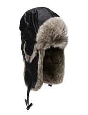 MJM Alaska Faux Leather/Faux Fur - Black/Grey