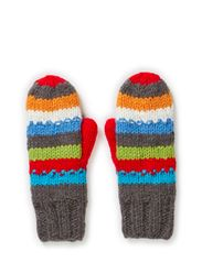 MJM Mitten Rainbow W Knit 50% Wool - Multicolor