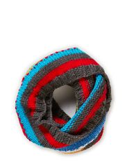 MJM Tube Scarf Rainbow W Knit 50% Wool - Multicolor