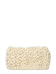 MJM Headband Rhinestone W Knit 50% Wool - Off White