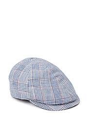 MJM Broker Linen/Cotton Blue Check - Blue Check