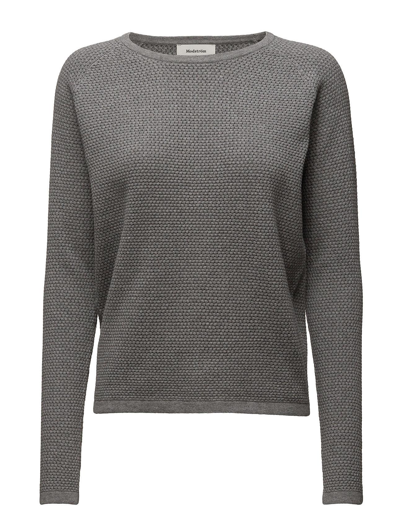 Shelby O-Neck Modström Sweatshirts til Damer i Grey Melange