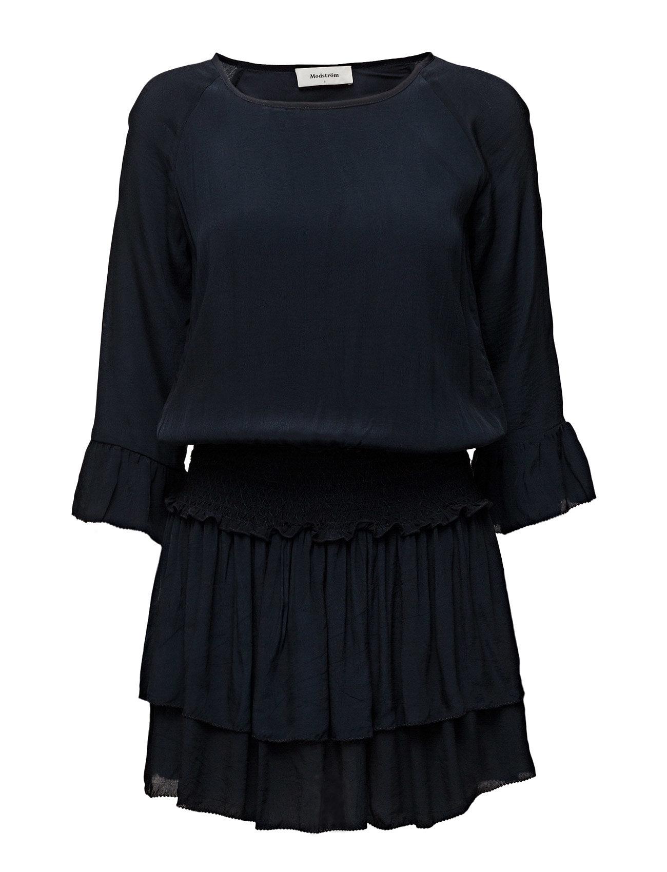 Silvia Dress Modström Korte kjoler til Damer i Navy Sky