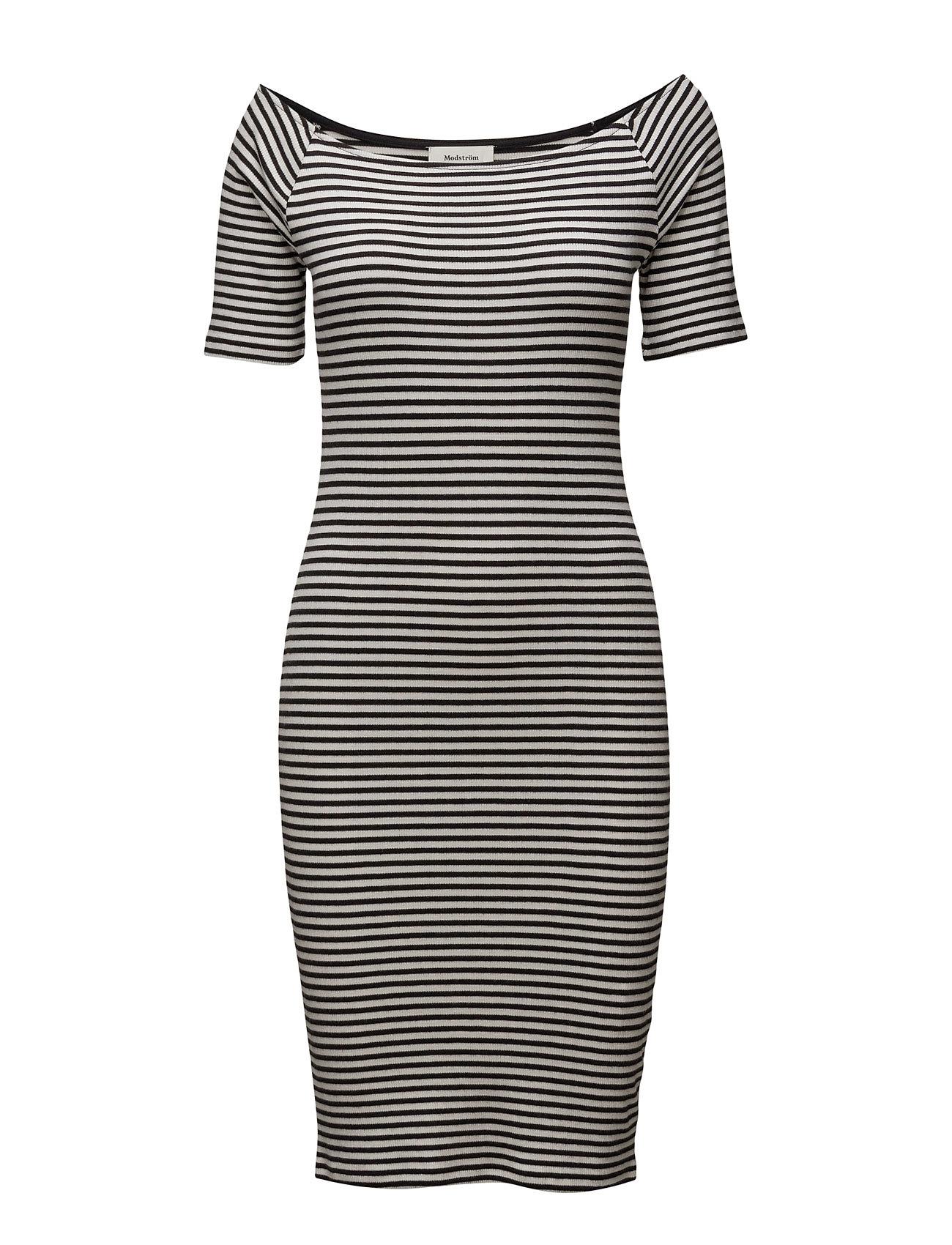 Krown Stripe Off Shoulder Dress Modstrˆm Knælange & mellemlange til Damer i