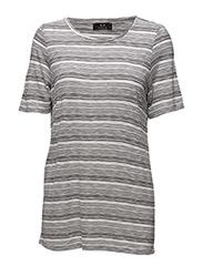 Maggi t-shirt - BRIGHT WHITE/BLACK STRIPE