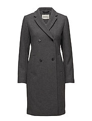 Odelia coat - DARK GREY MELANGE