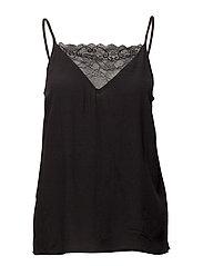 Talia strap top - BLACK