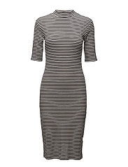Krown stripe t-shirt dress - BLACK/PORCELAIN