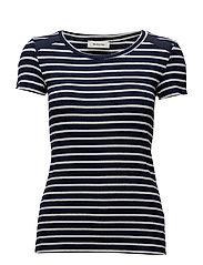 Vamos t-shirt - NAVY/OFF WHITE