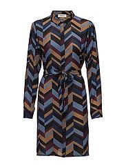 Clive print dress - RETRO STRIPE
