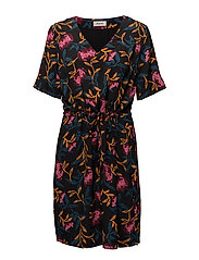 Donald print dress - FALL FLOWER