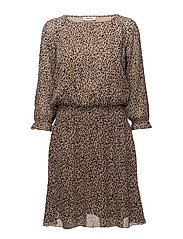 Fausia print dress - LEO BLUSH