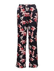 Fedora print pants - SCARLET FLOWER