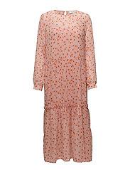 Galia print dress - ROSE